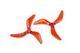 DYS XT50433 高性能 耐炸 透明螺旋桨  红色款 1对装