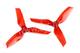 DYS XT50513 高性能 耐炸 透明螺旋桨  红色款 1对装